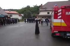 Odovzdávanie hasičského auta